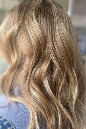 blonde balayage at la suite hair and beauty salon in Corbridge