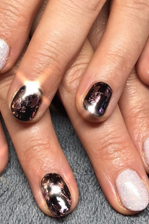 Metallic-Nails-at-LA-Suite-Beauty-Salon-in-Corbridge-Northumberland